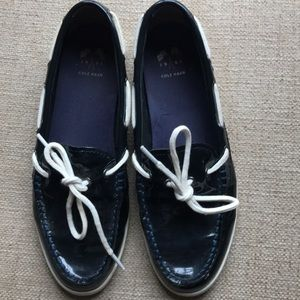 Cole Haan Patent Navy Blue shoes Women's 9M EUC